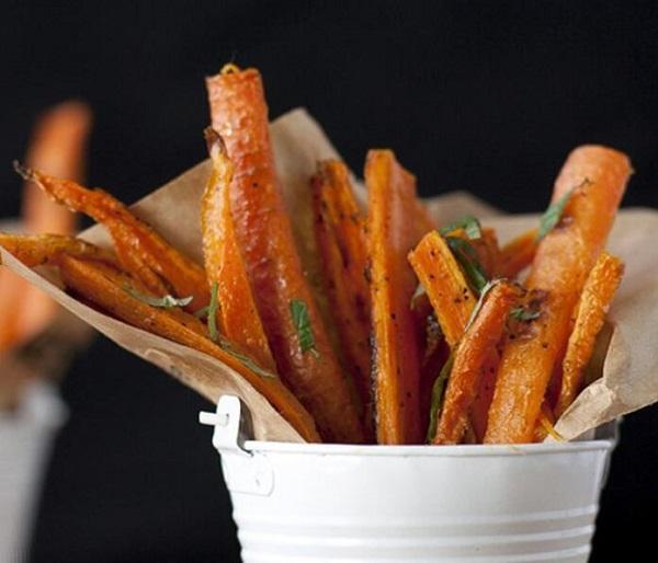 món ăn vặt từ cà rốt