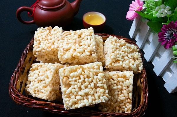 món ăn vặt từ gạo