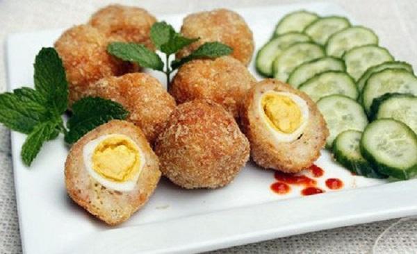 ăn vặt từ trứng cút